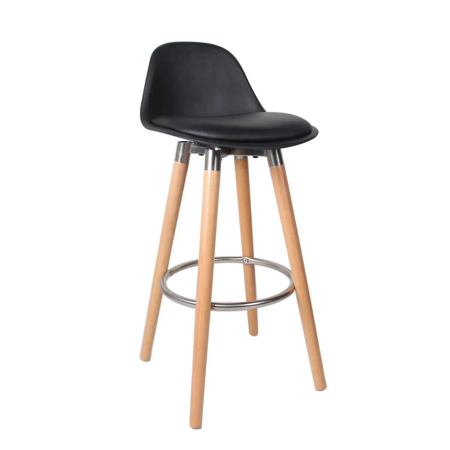 Songmics Lot De 2 Tabourets De Bar Stool Lot De 2 Tabourets Lam Noir Leroy Merlin