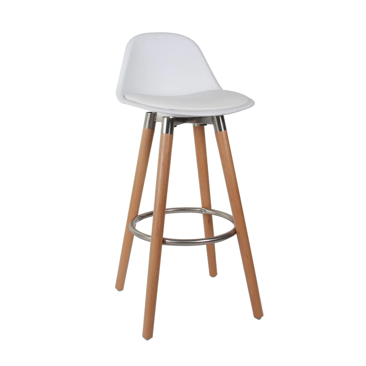 Tabouret Bar Plastique Lot De 2 Tabourets Plastique Blanc