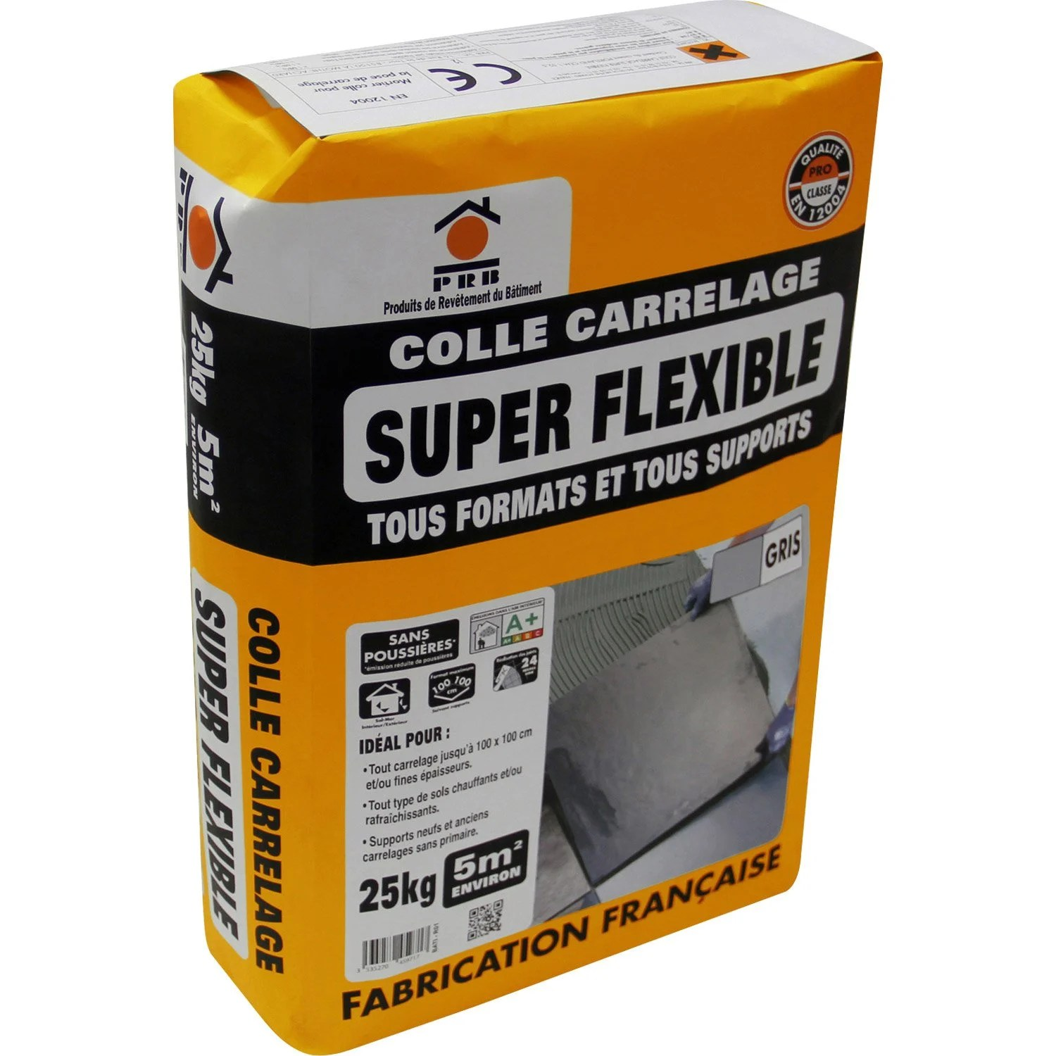 Leroy Merlin Colle Carrelage Exterieur Mortier Colle Superflex Gris Prb 25kg Leroy Merlin