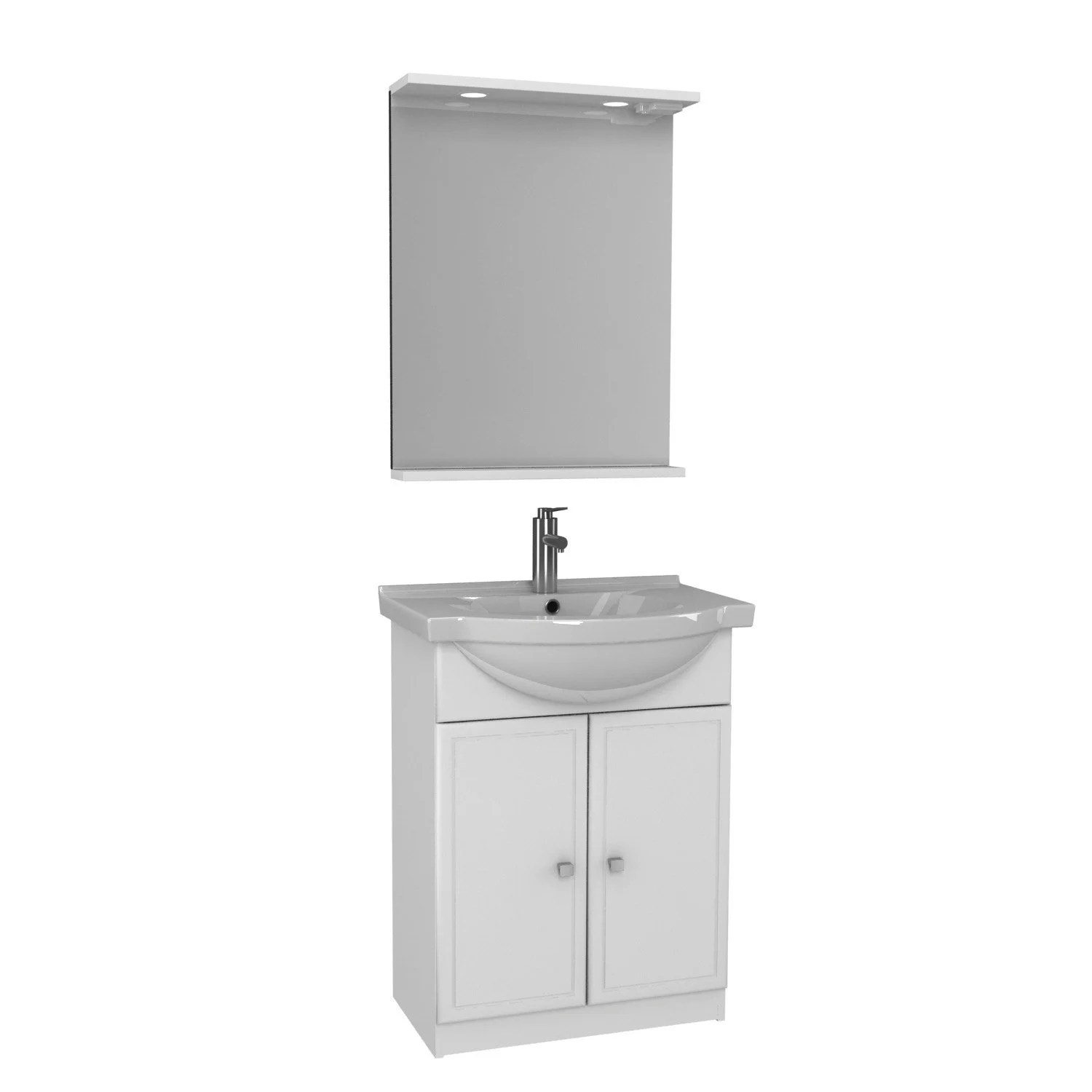 Meuble Vasque 65 Cm Blanc Galice Leroy Merlin