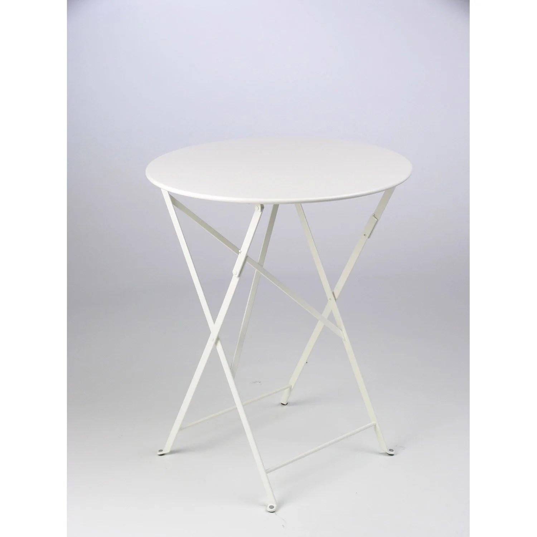 Table Bistrot Ronde Exterieur | Salon Ronde Pliante Inoxydable Table ...