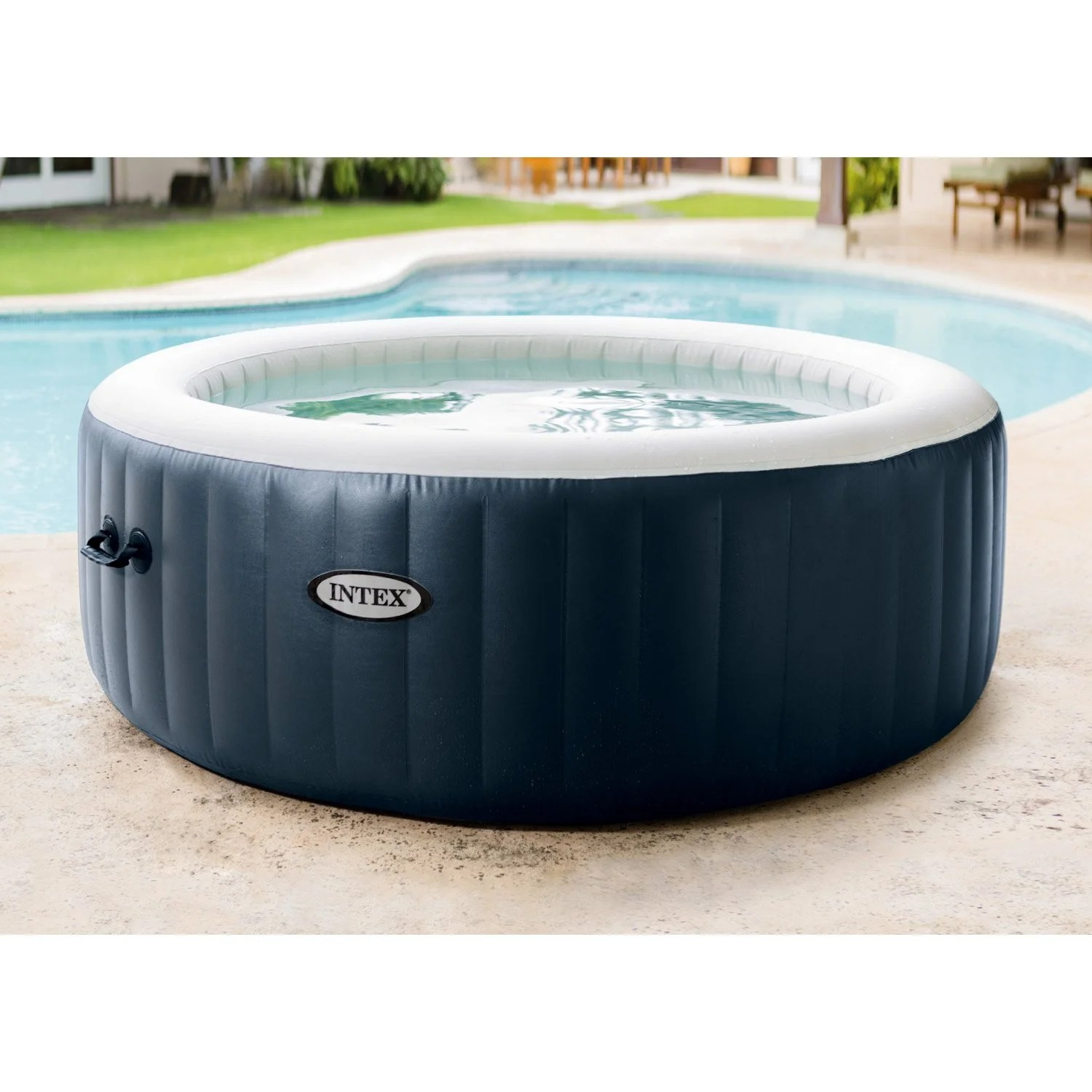 Spa Exterieur La Rochelle Spa Gonflable Intex Purespa Bulles Blue Navy Rond 6 Places Assises