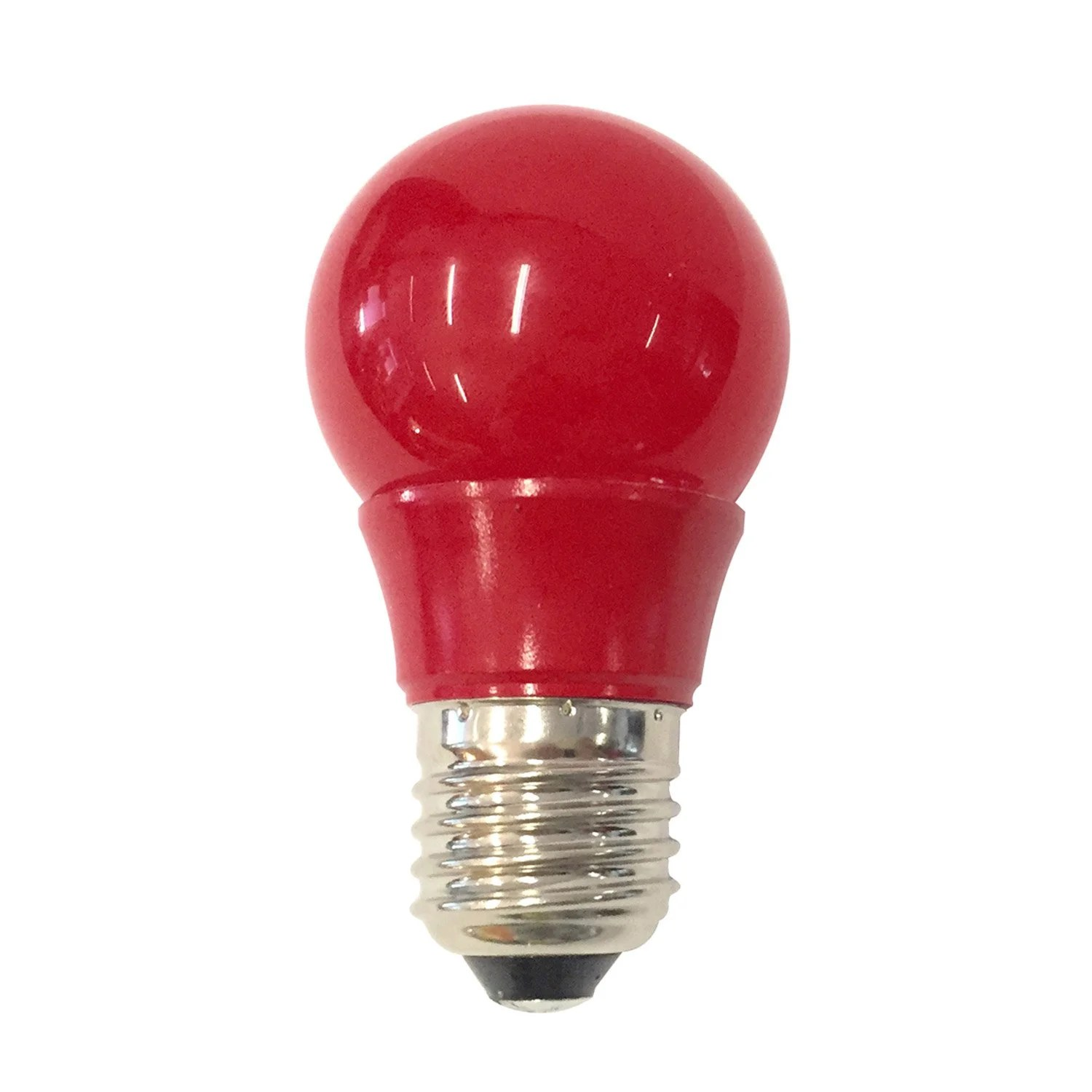 Led Rouge Ampoule Sphérique Led 2 5w 250lm E27 Rouge Lexman
