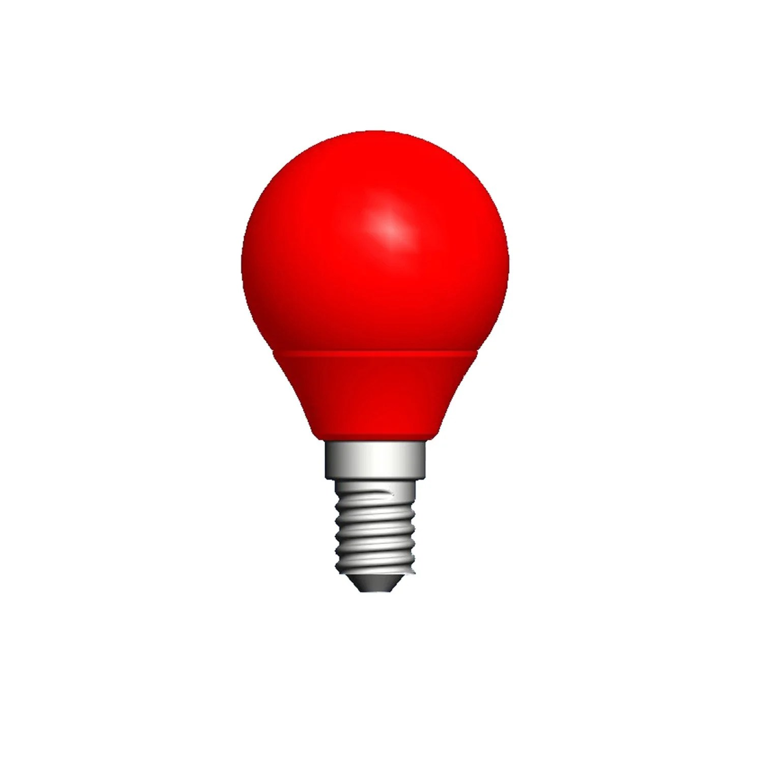 Led Rouge Ampoule Sphérique Led 2 5w 250lm E14 Rouge Lexman