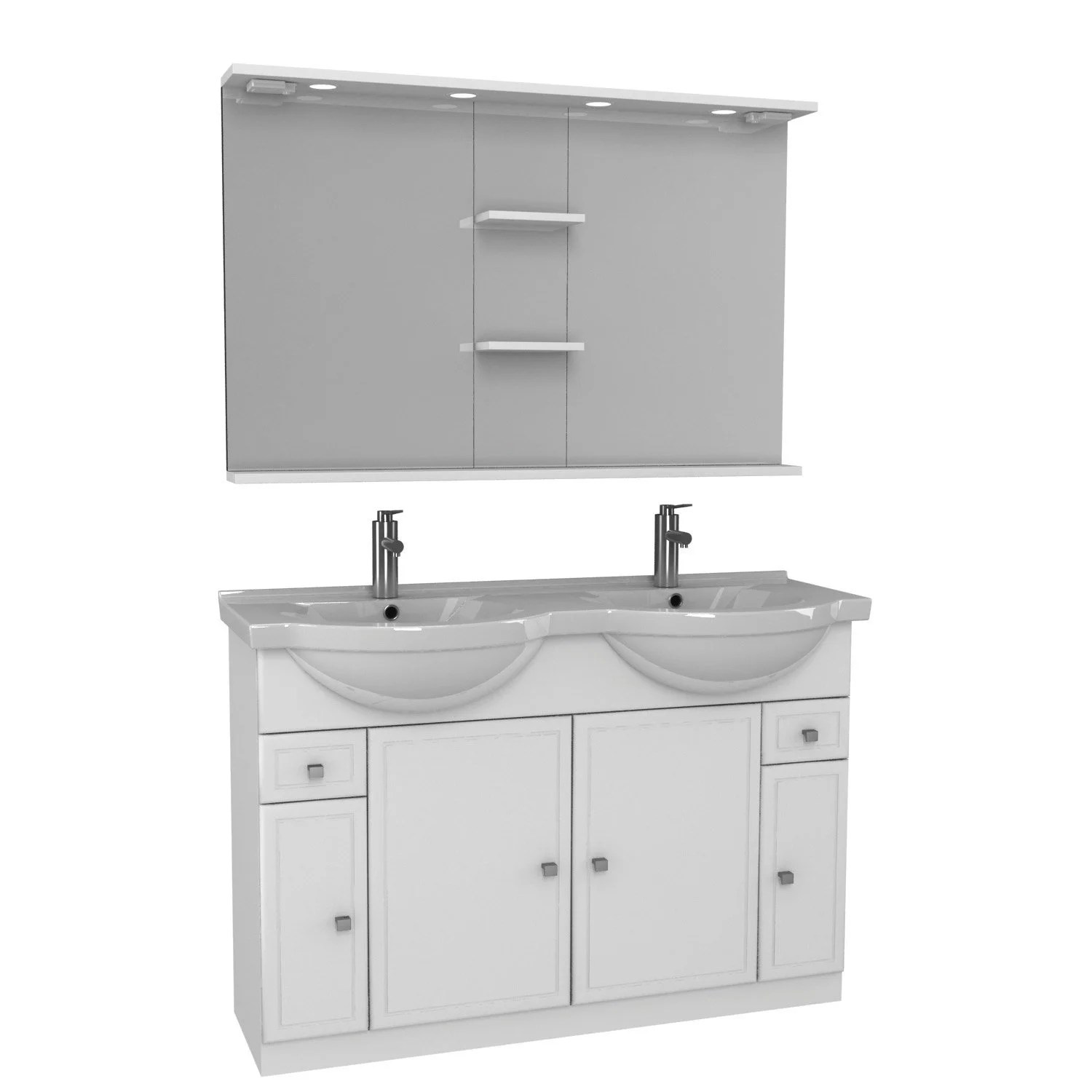 Meuble 2 Vasques Leroy Merlin Meuble Vasque 125 Cm Blanc Galice
