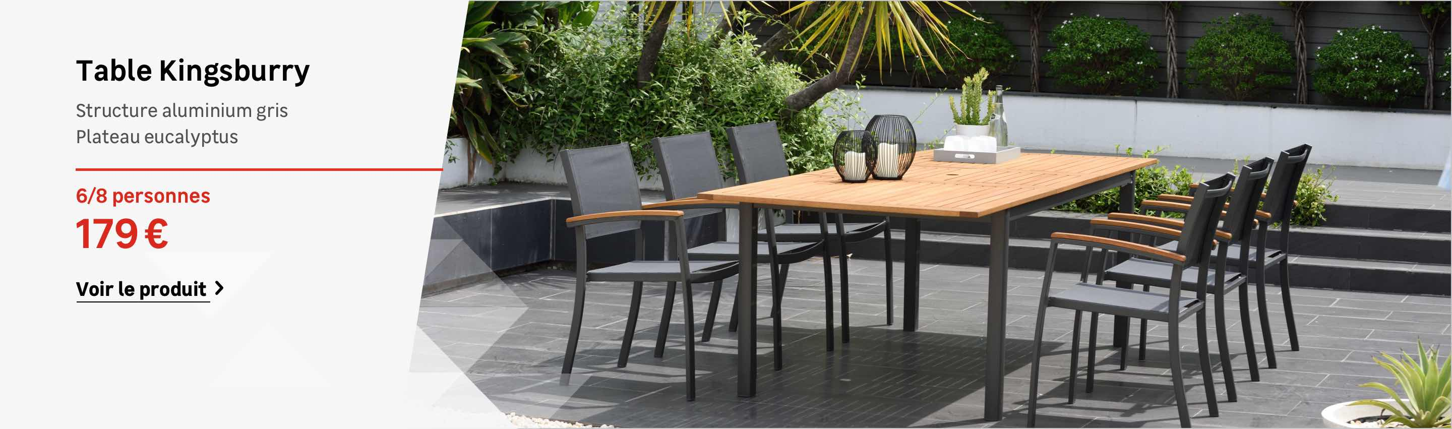 Table Jardin Salon De Jardin Table Et Chaise Mobilier De Jardin Leroy Merlin