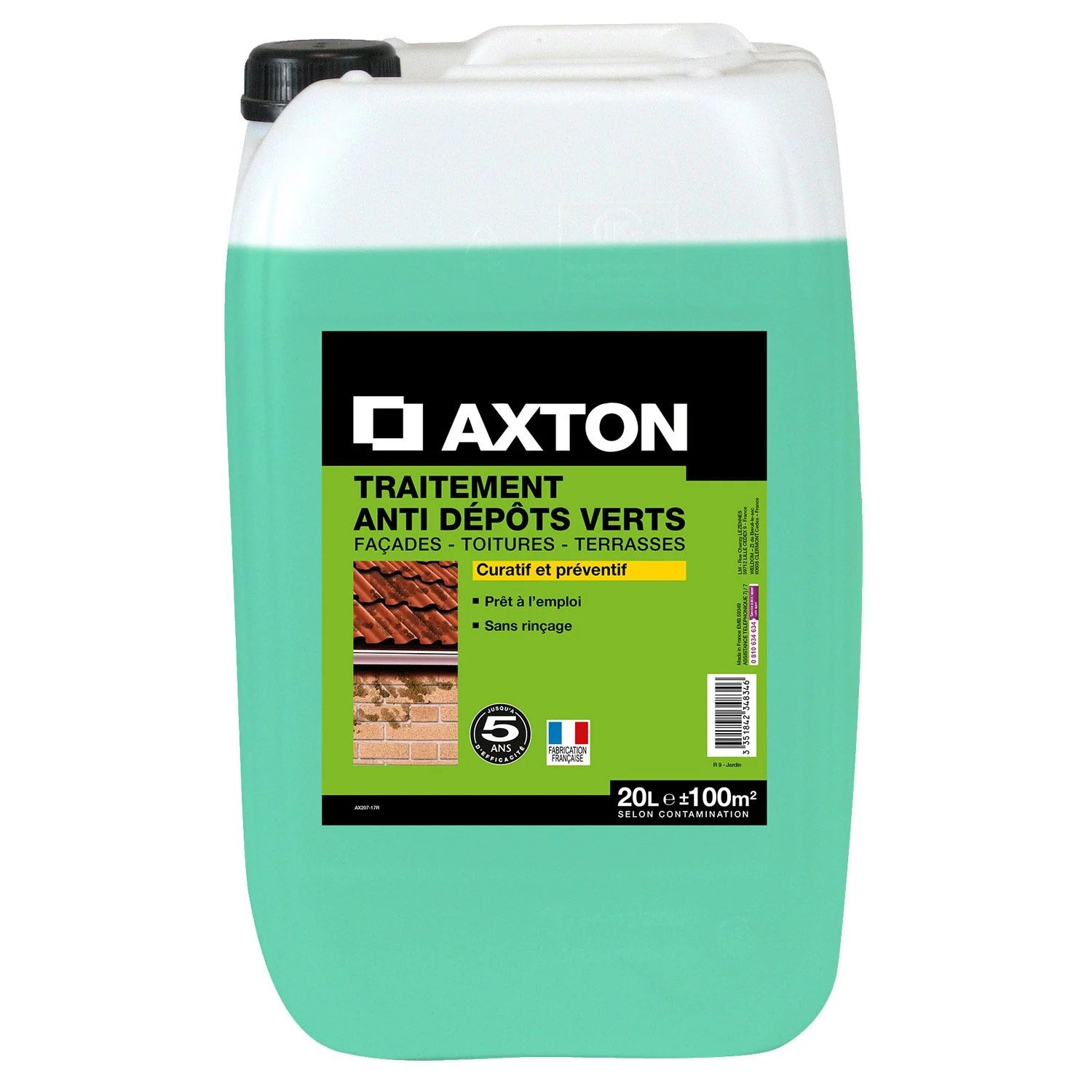Weldom Lambris Pvc Traitement Anti Dépots Verts Axton 20 L