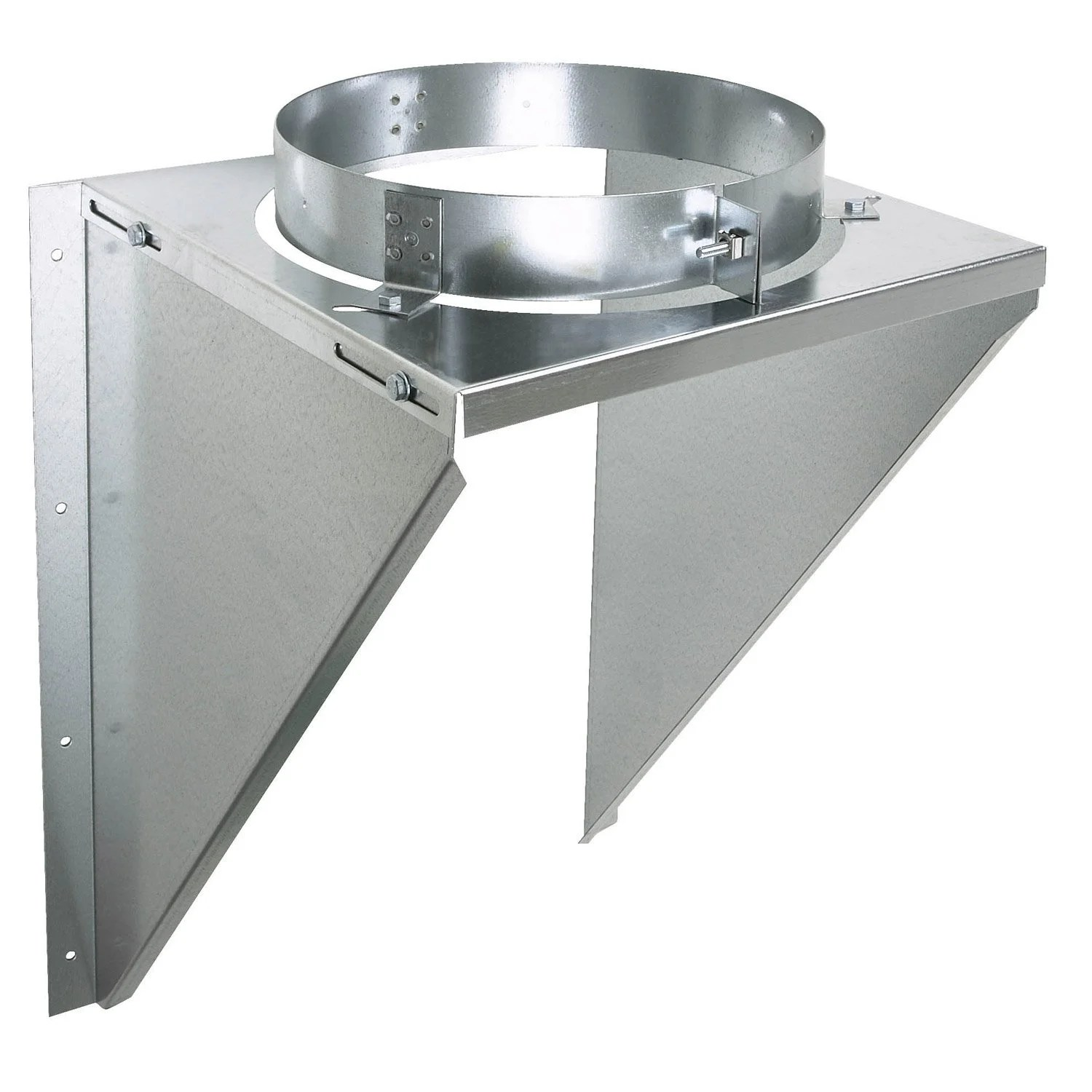 Tubage Cheminee Quel Diametre Support Mural Inox Galva Sm 150 Poujoulat D 150 Mm
