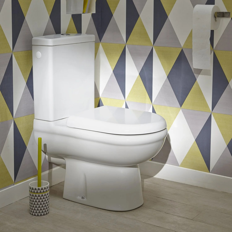 Deco Wc Blanc   Deco Toilette Gris Et Blanc