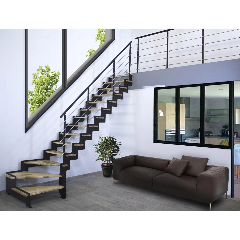 Escalier Noir | Escalier En Acier Finition époxy Noir Ca2m Mobilier ...