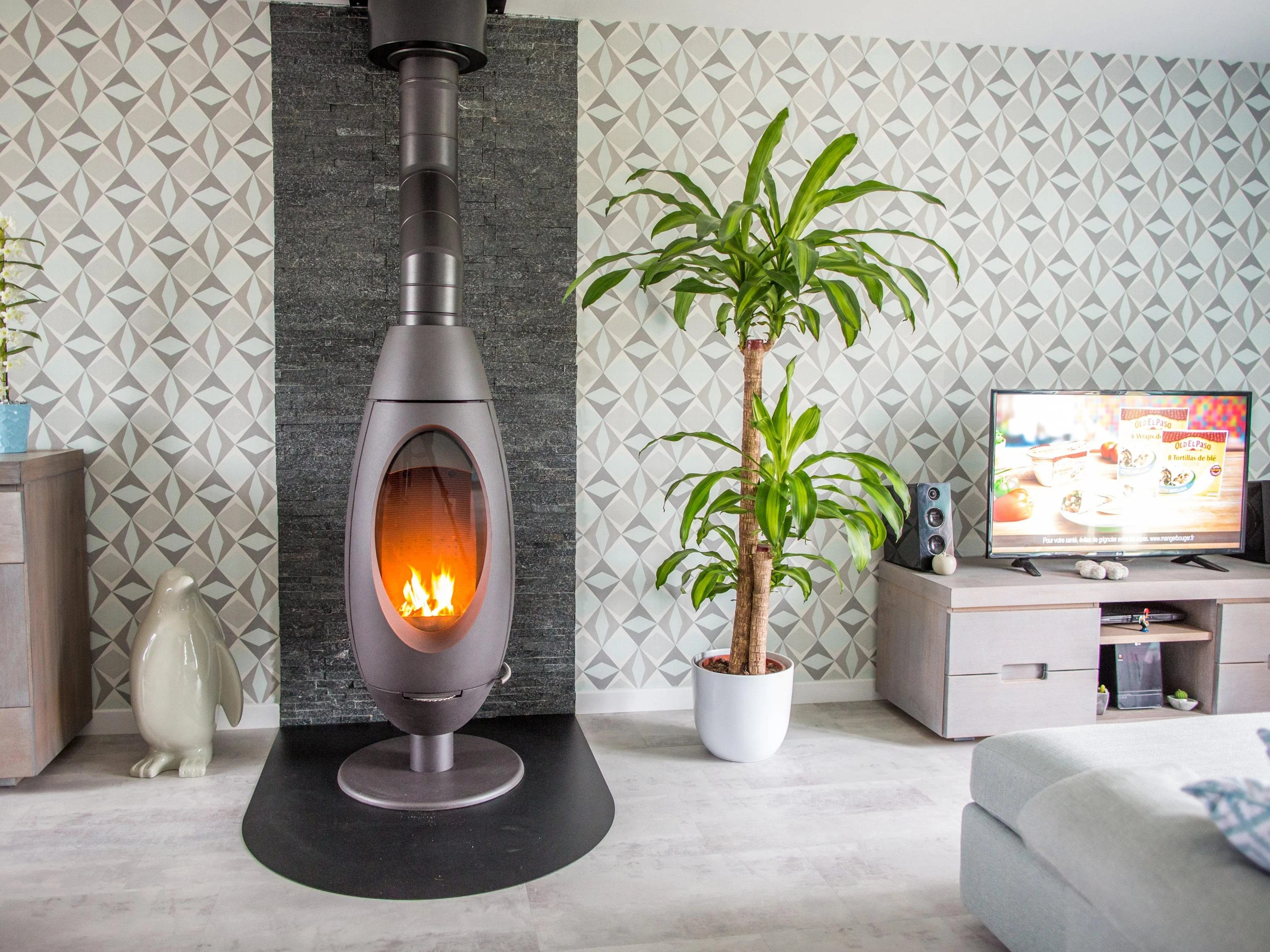 Cheminees Philippe Rivedoux 9kw Poêle à Bois Invicta Ove Anthracite 6149 44 10 Kw