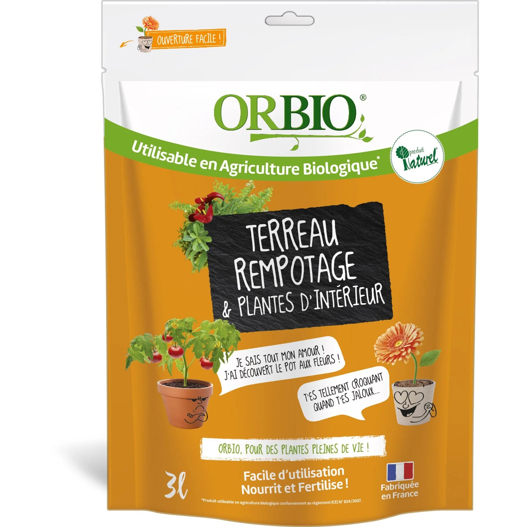 Plante D'interieur Orange Terreau Plantes D Intérieur Or Bio 3 L