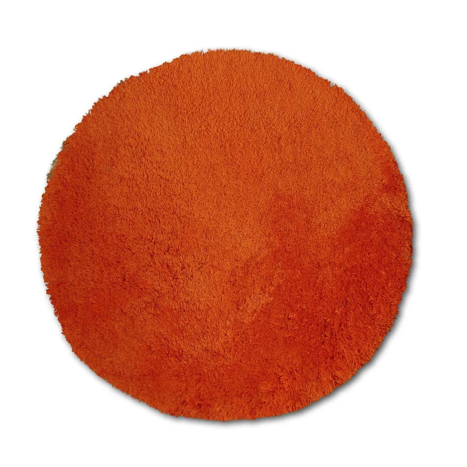 Tapis Shaggy Orange Tapis Orange Rond Diam 650 Mm Agathe
