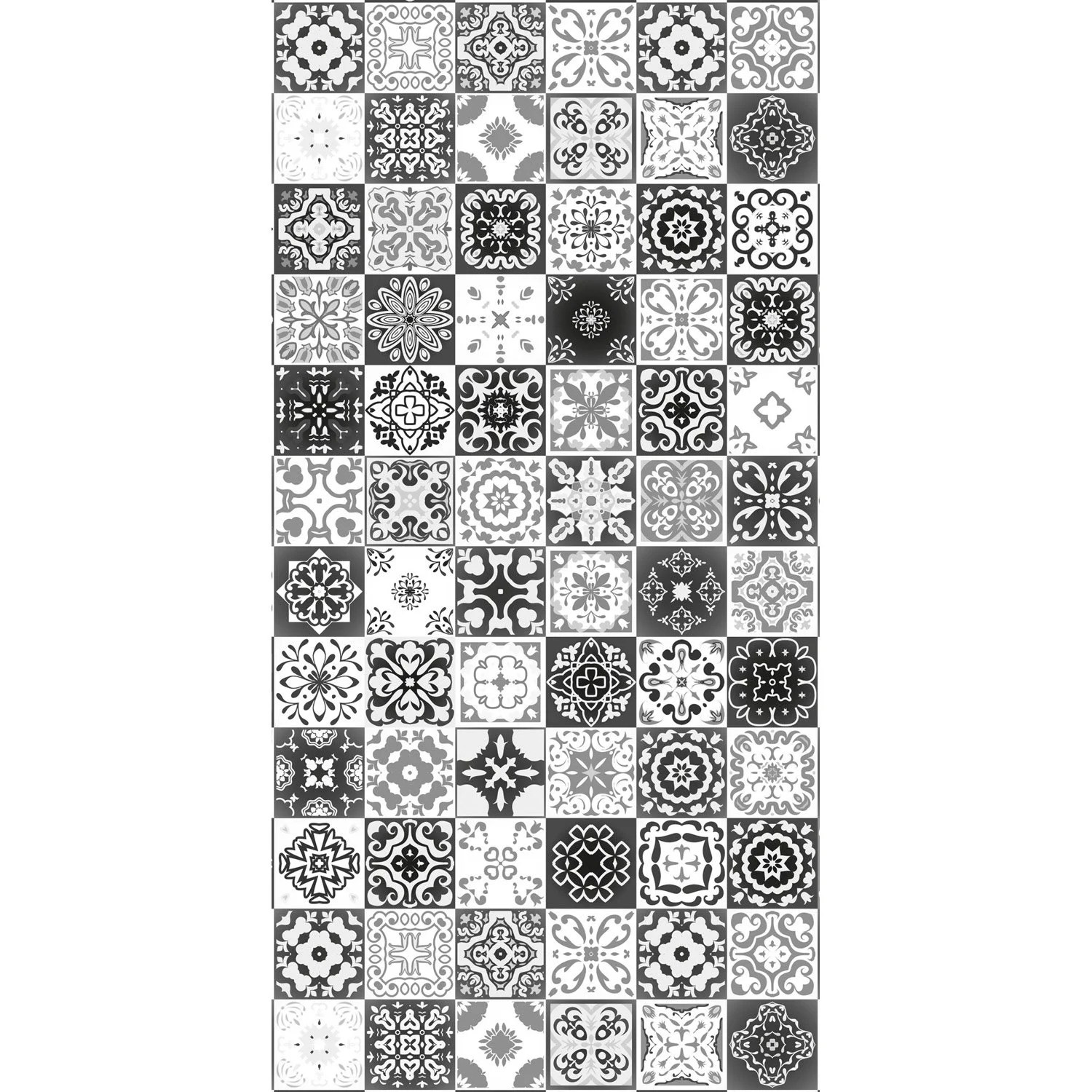 Deco Carreau Ciment Panneau H 200 Cm X L 100 Cm Deco K In Carreaux Ciment Noir Brillant