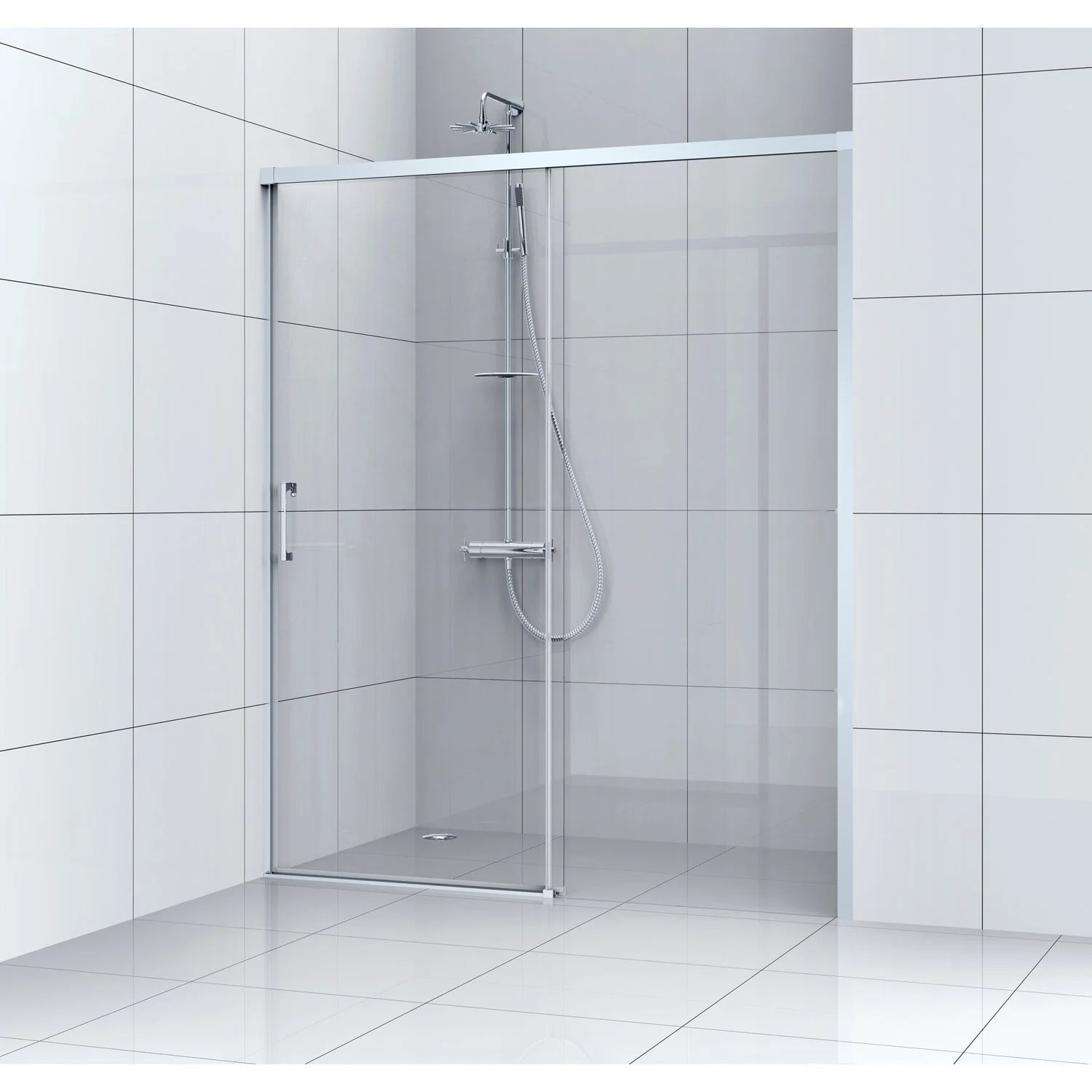 Porte Coulissante Magasin Porte De Douche Coulissante 160 Cm Transparent Remix
