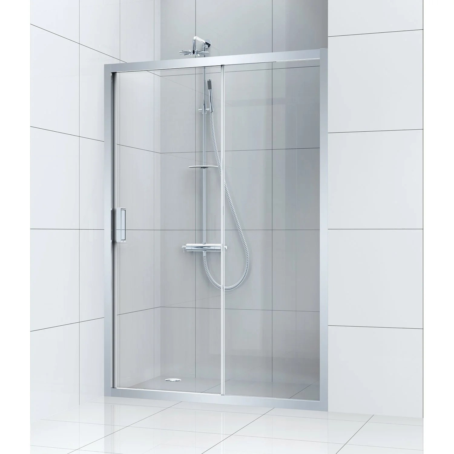 Porte Coulissante Magasin Porte De Douche Coulissante 140 Cm Transparent Charm