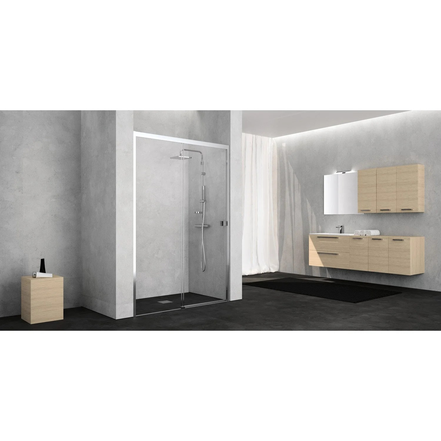 Porte Coulissante Magasin Porte De Douche Coulissante 120 Cm Transparent Neo