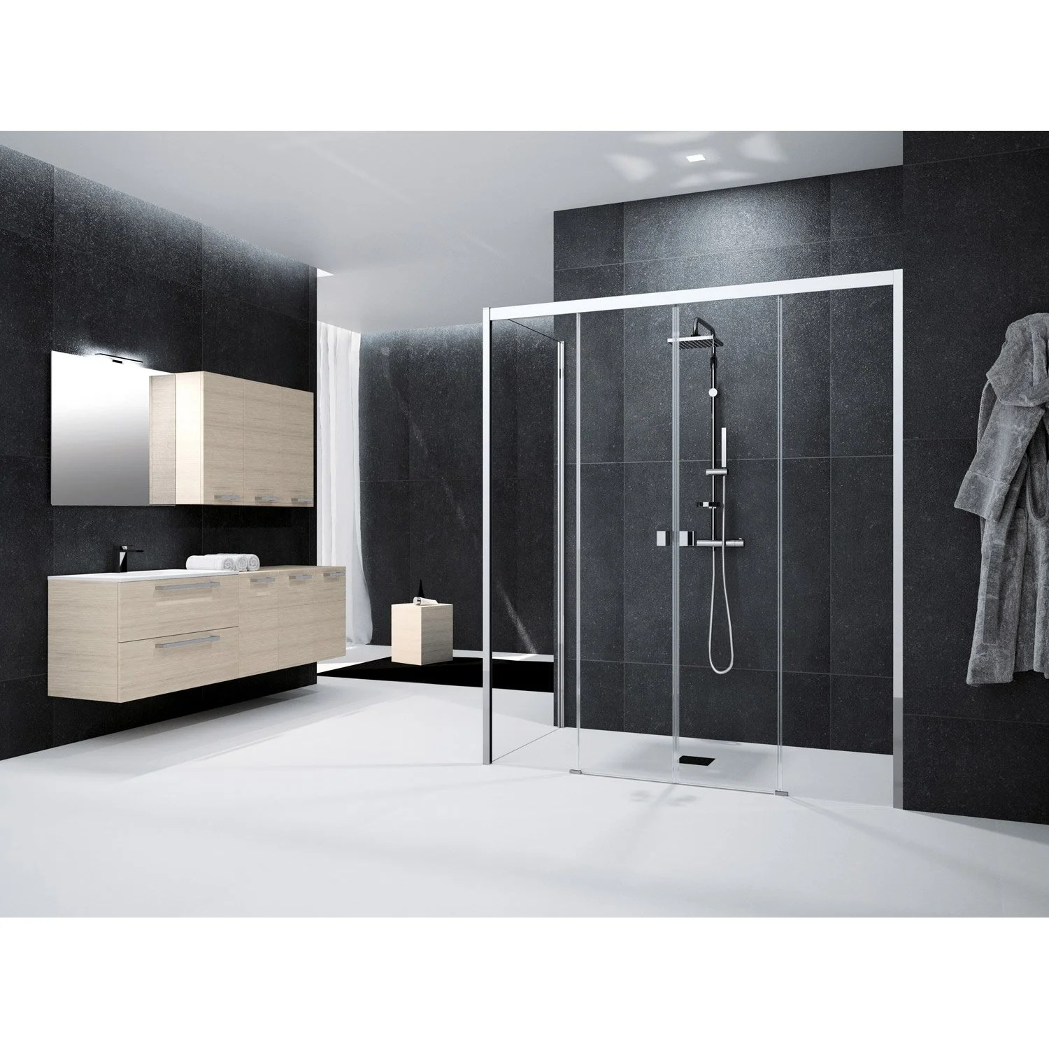 Porte Coulissante Magasin Porte De Douche Coulissante 170 Cm Transparent Neo