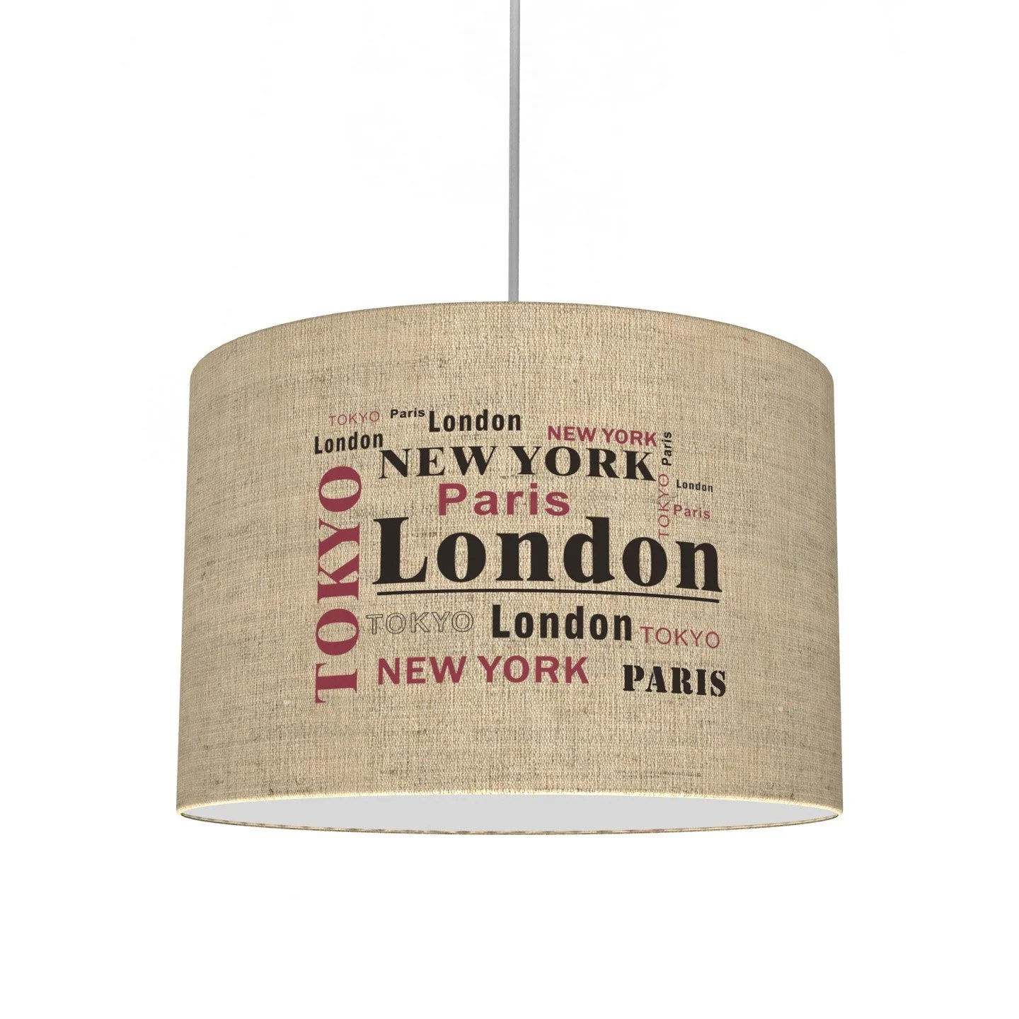 Suspension Lin Suspension E27 City Metropolis Lin Beige 1 X 40 W Seynave