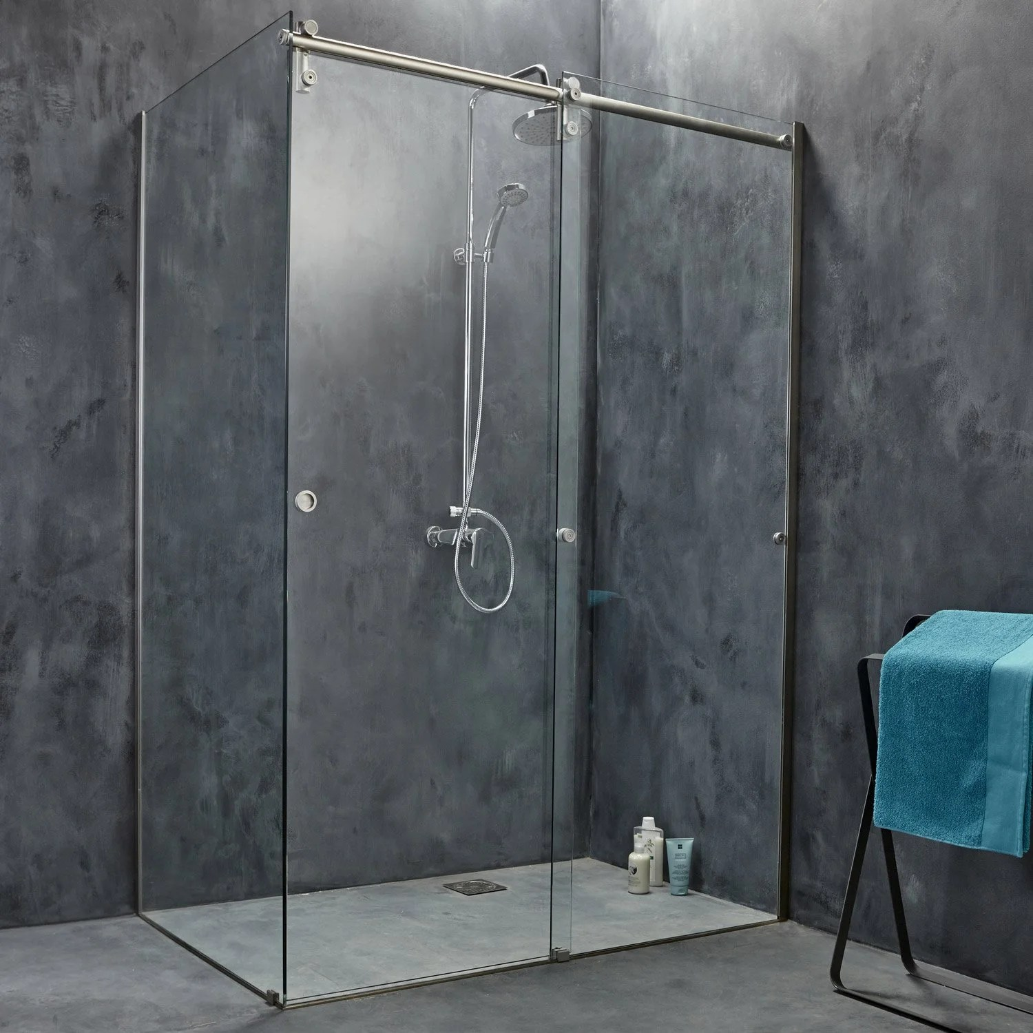 Porte Coulissante Magasin Porte De Douche Coulissante 139 Cm Transparent Ellipse 2