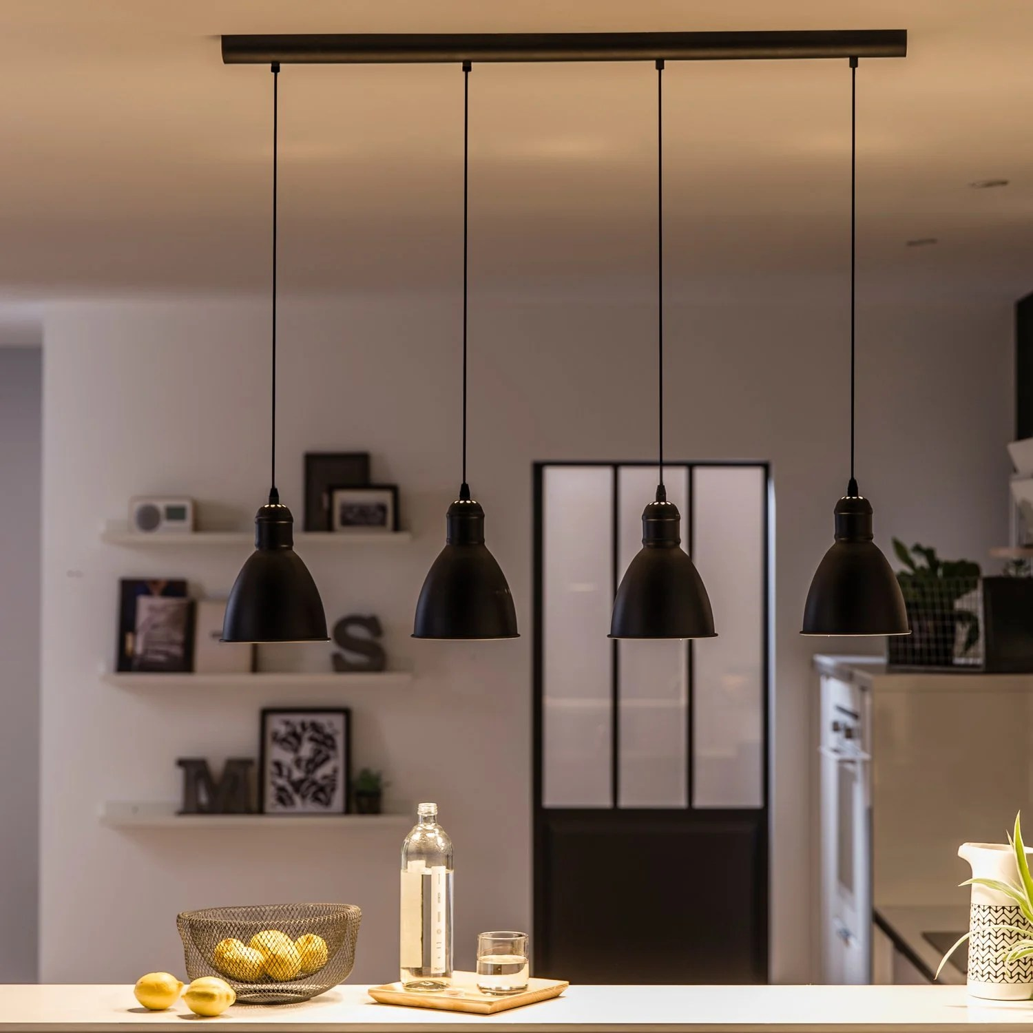 Suspensions Cuisine Une Suspension 4 En 1 Au Style Industriel Leroy Merlin