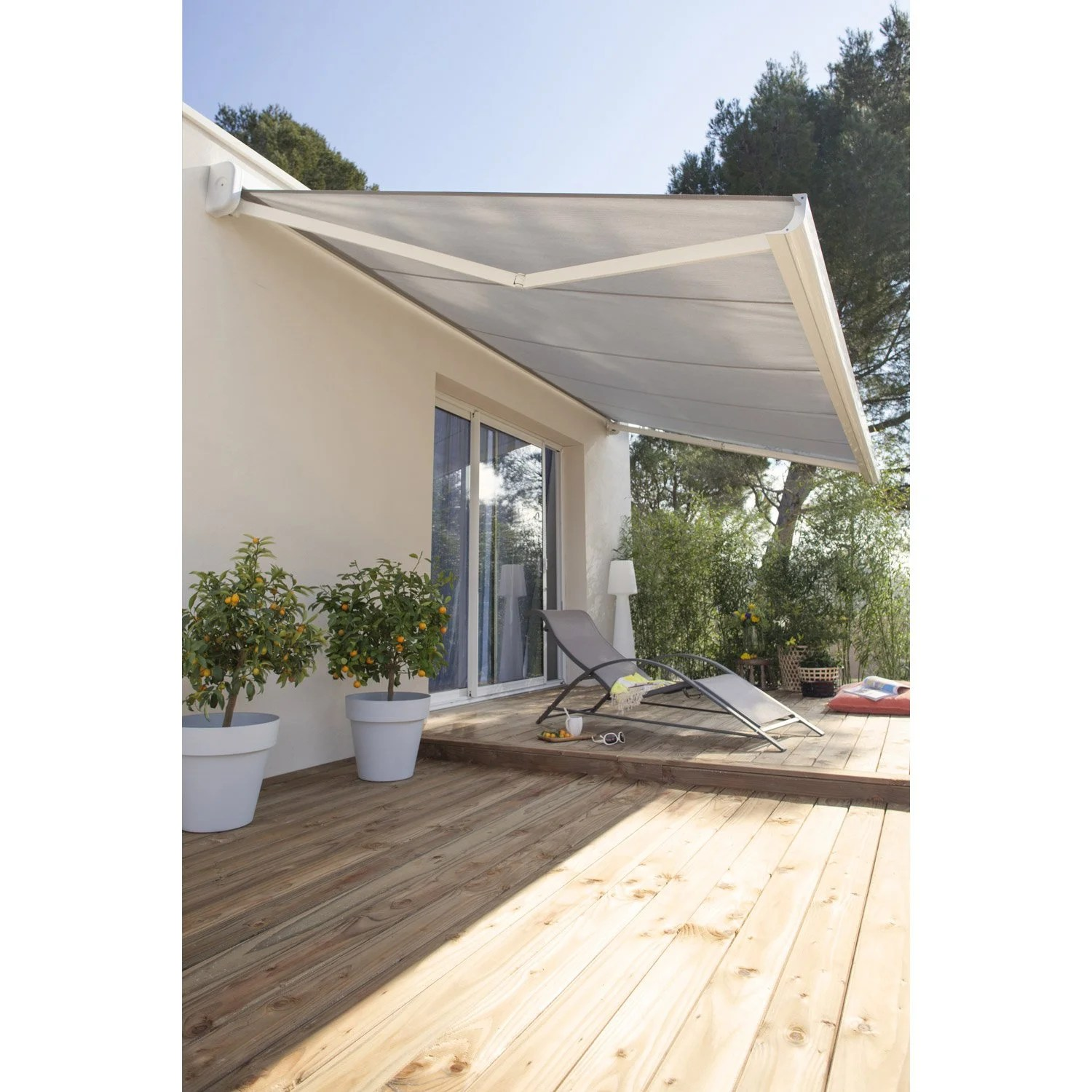 Toile Store Banne Gris Anthracite Store Terrasse Gris