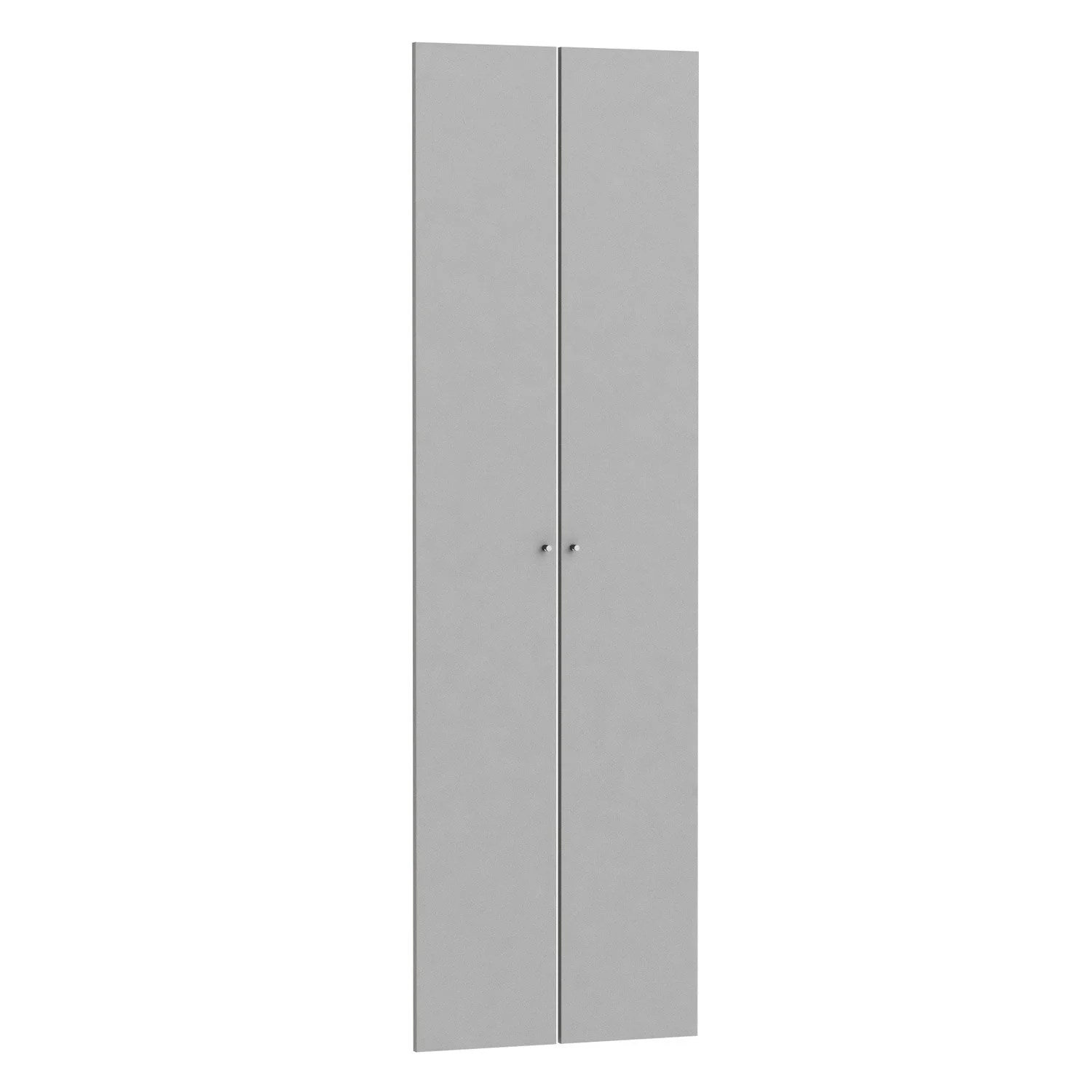 Porte De Placard 60 Cm De Large Lot De 2 Portes Battantes Spaceo Home 200 X 30 X 1 6 Cm Anthracite