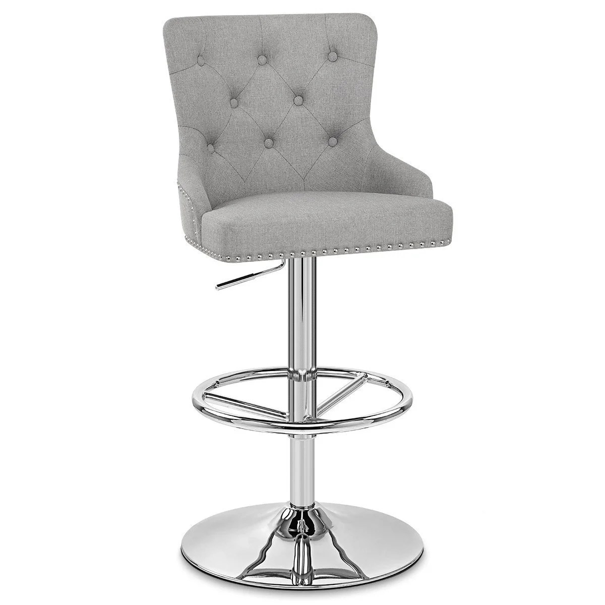 Tabouret De Bar Gris Clair Tabouret De Bar Design Textile Gris Clair Manor