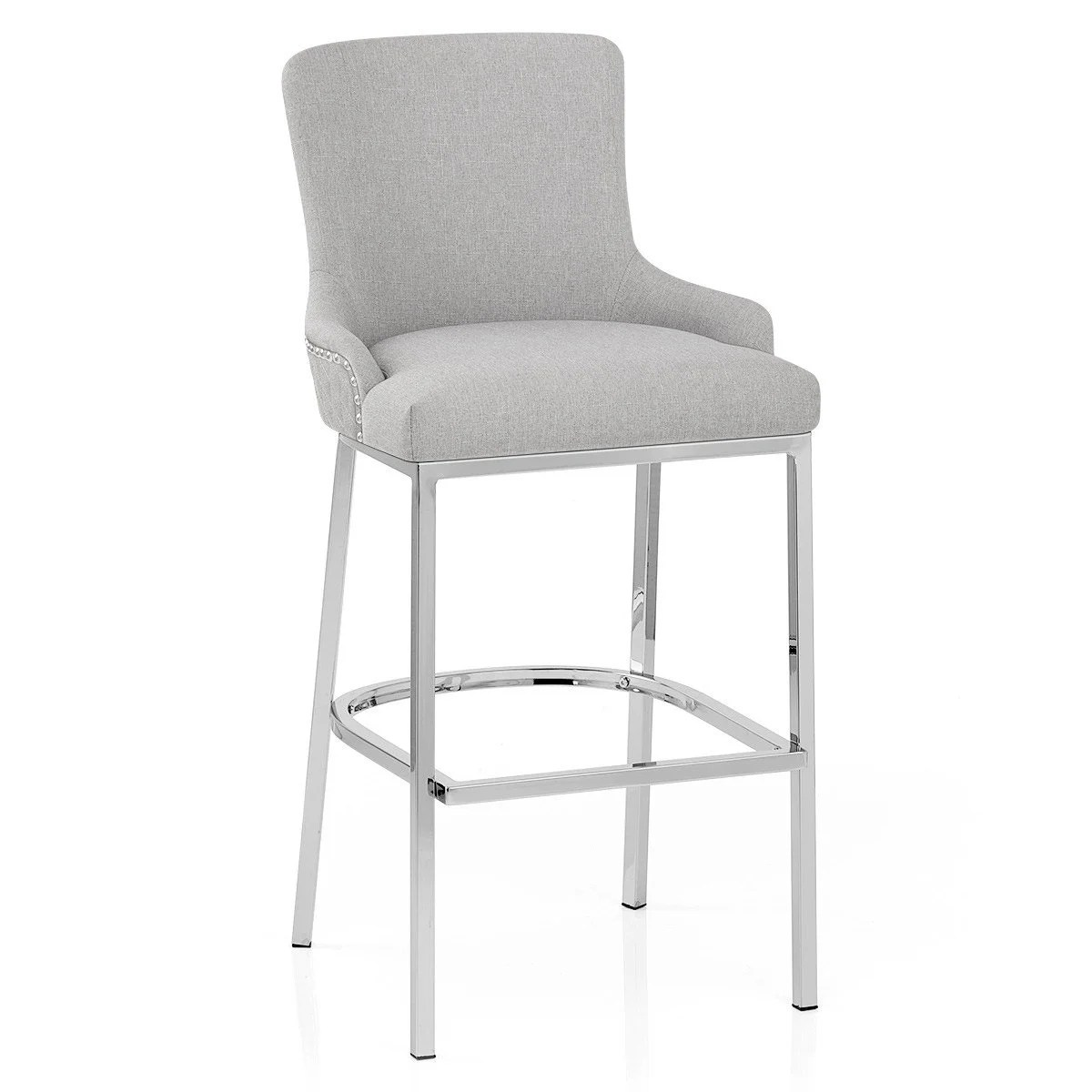 Tabouret De Bar Gris Clair Tabouret De Bar Design Textile Gris Clair Blush