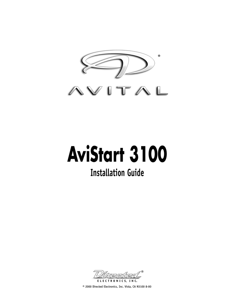 Avital 4103 Remote Start Wiring Diagram Installation