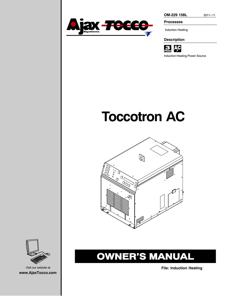 Symbole Induction Ajax Tocco Toccotron Ac Specifications Manualzz
