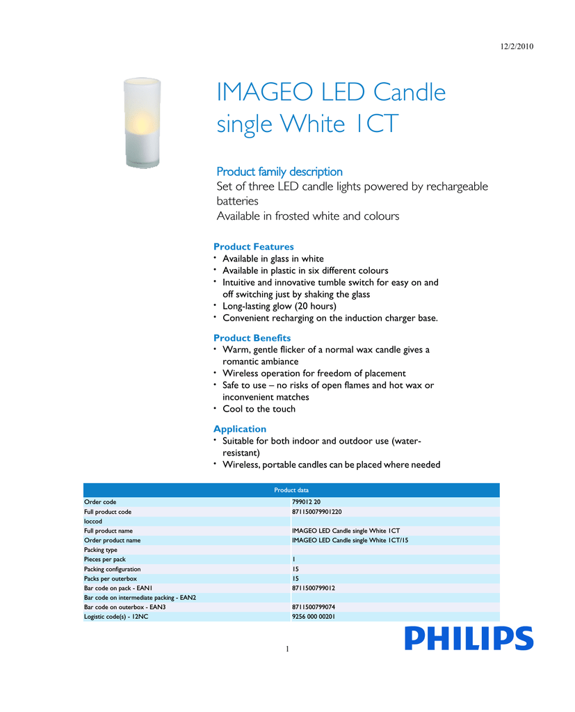 Philips Imageo Philips Imageo Led Candle Single White 1ct Manualzz