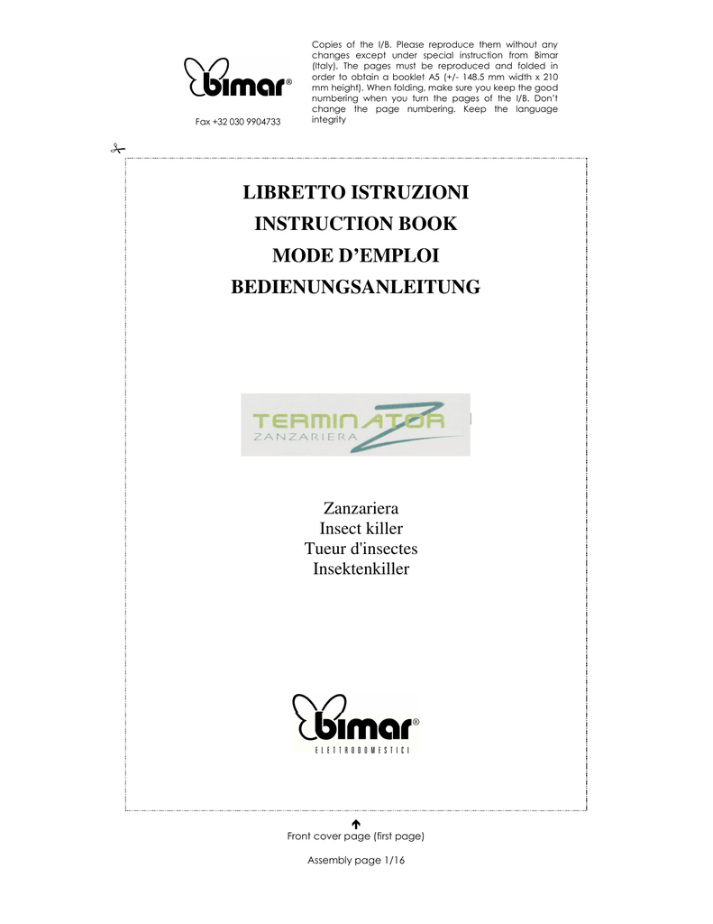 See You Elettrodomestici Libretto Istruzioni Instruction Book Mode D Emploi