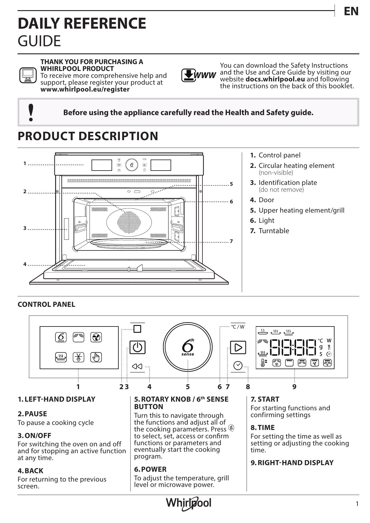 Amw 505 Ix Whirlpool Amw 9605 Ix Setup And User Guide Manualzz