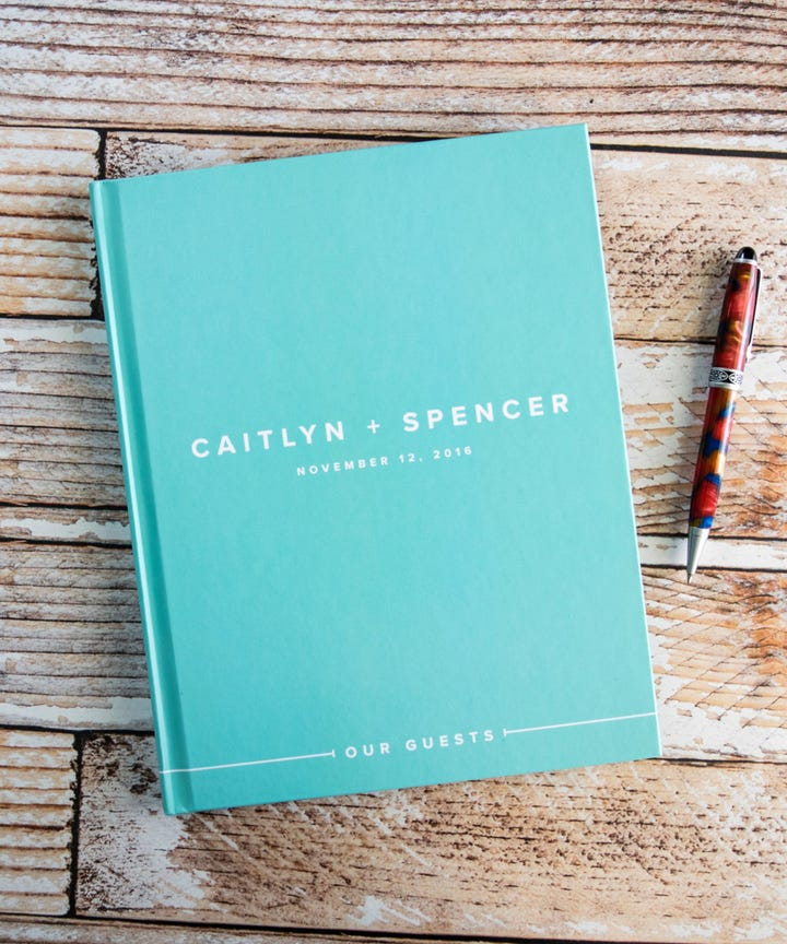 Best Wedding Guest Books - Personalized Signature Books