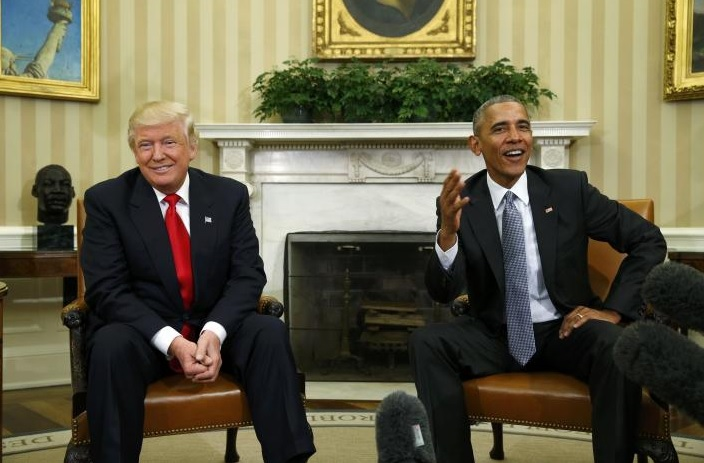 Trump And Obama Set Campaign Rancor Aside With White House