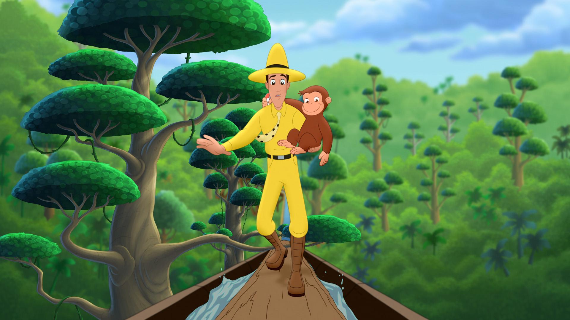 Jungle Animal Wallpaper Curious George 3 Back To The Jungle Dvd Zavvi Com