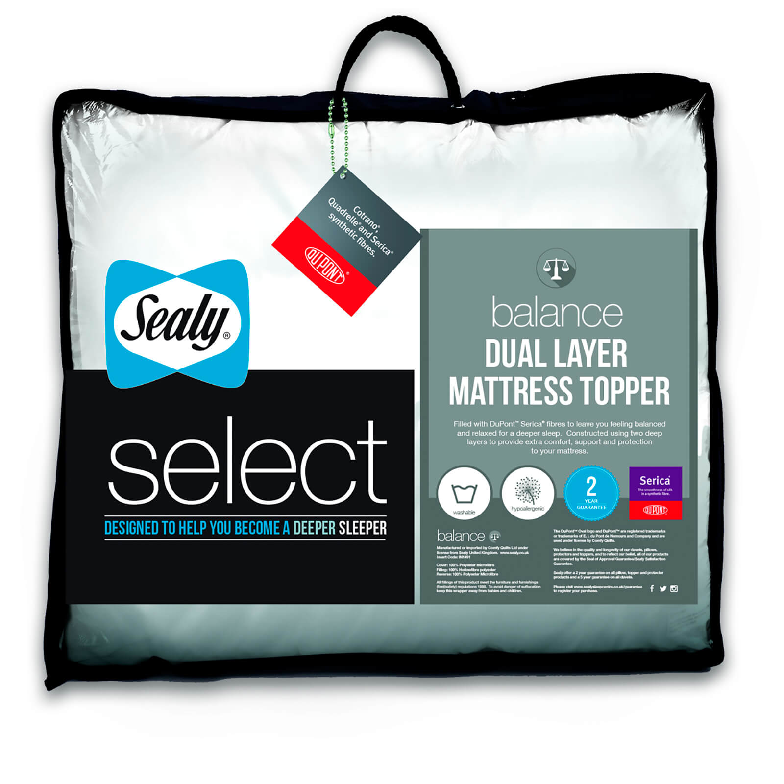 Dupont Bettdecken Sealy Select Balance Dual Layer Mattress Topper Sowia