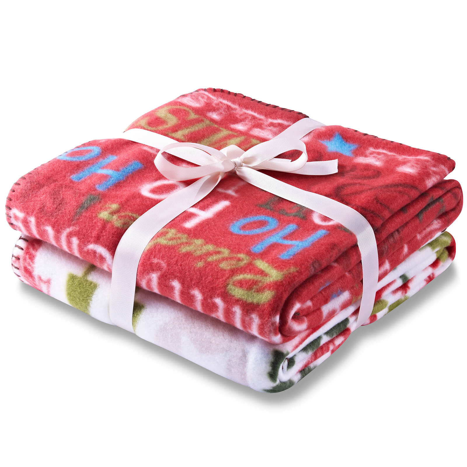 Catherine Lansfield Christmas Bedding Catherine Lansfield Christmas Slogans Twin Pack Throw