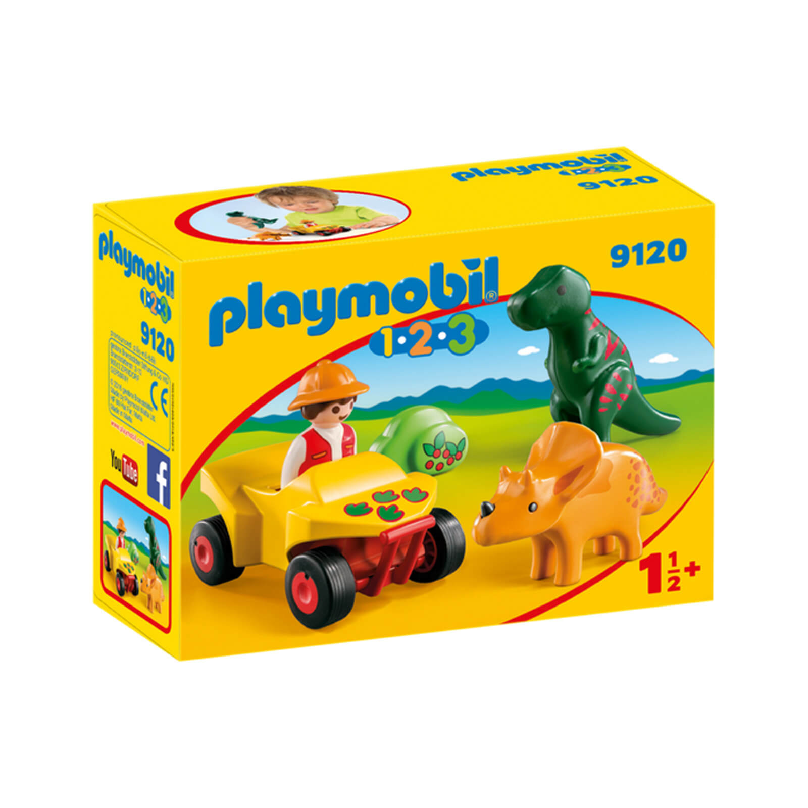 5302 Playmobil Playmobil 1 2 3 Explorer With Dinos 9120