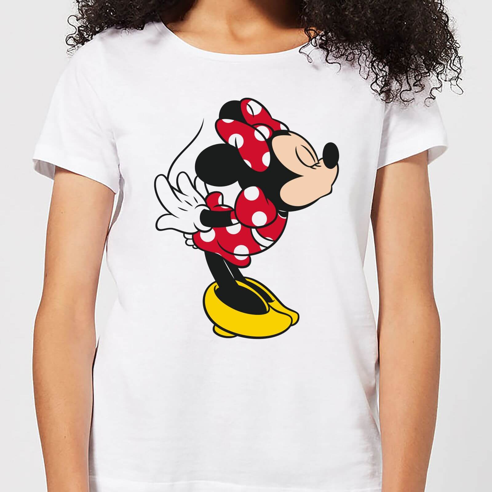 Disney Mickey Disney Mickey Mouse Minnie Split Kiss Women S T Shirt White