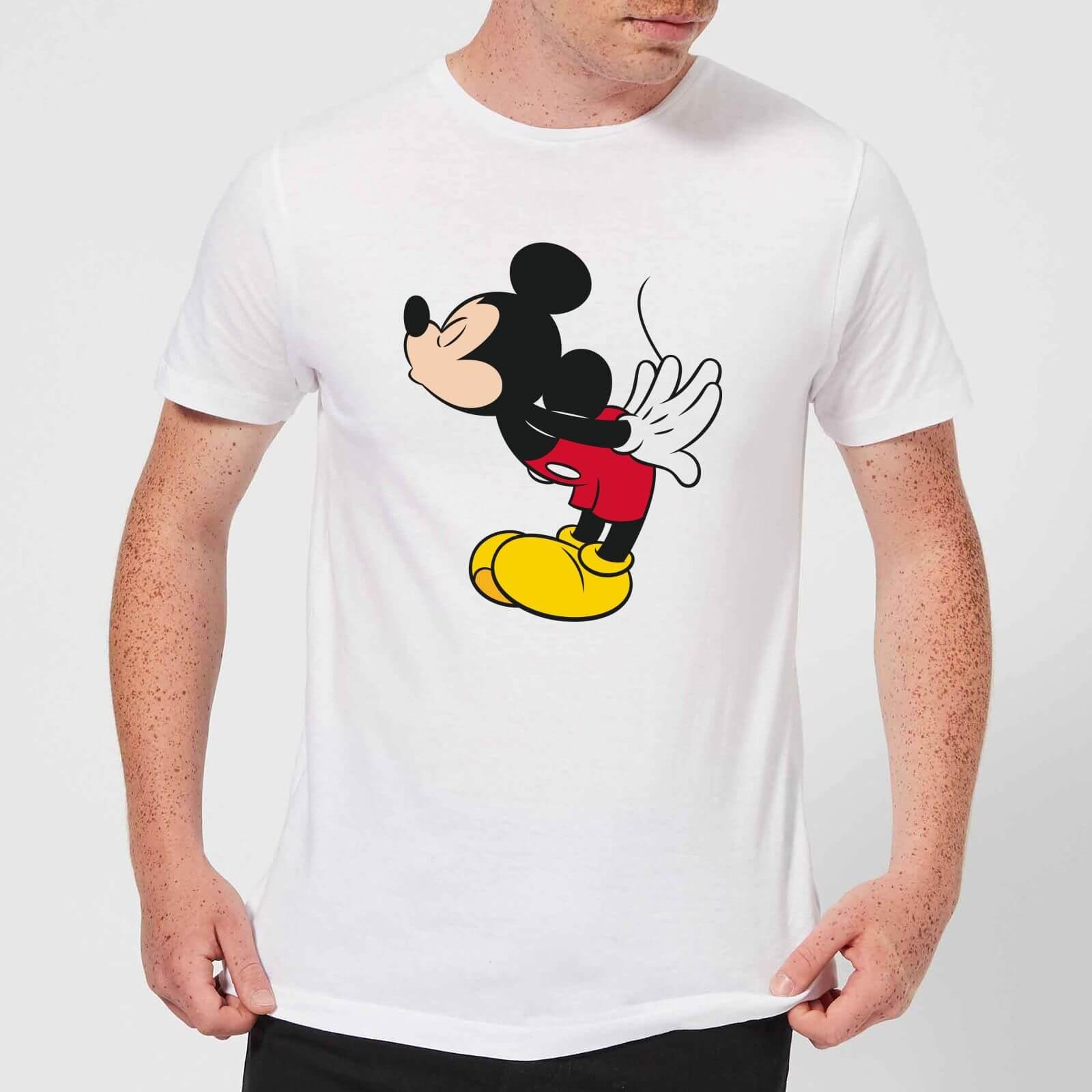 Disney Mickey Disney Mickey Mouse Mickey Split Kiss T Shirt White