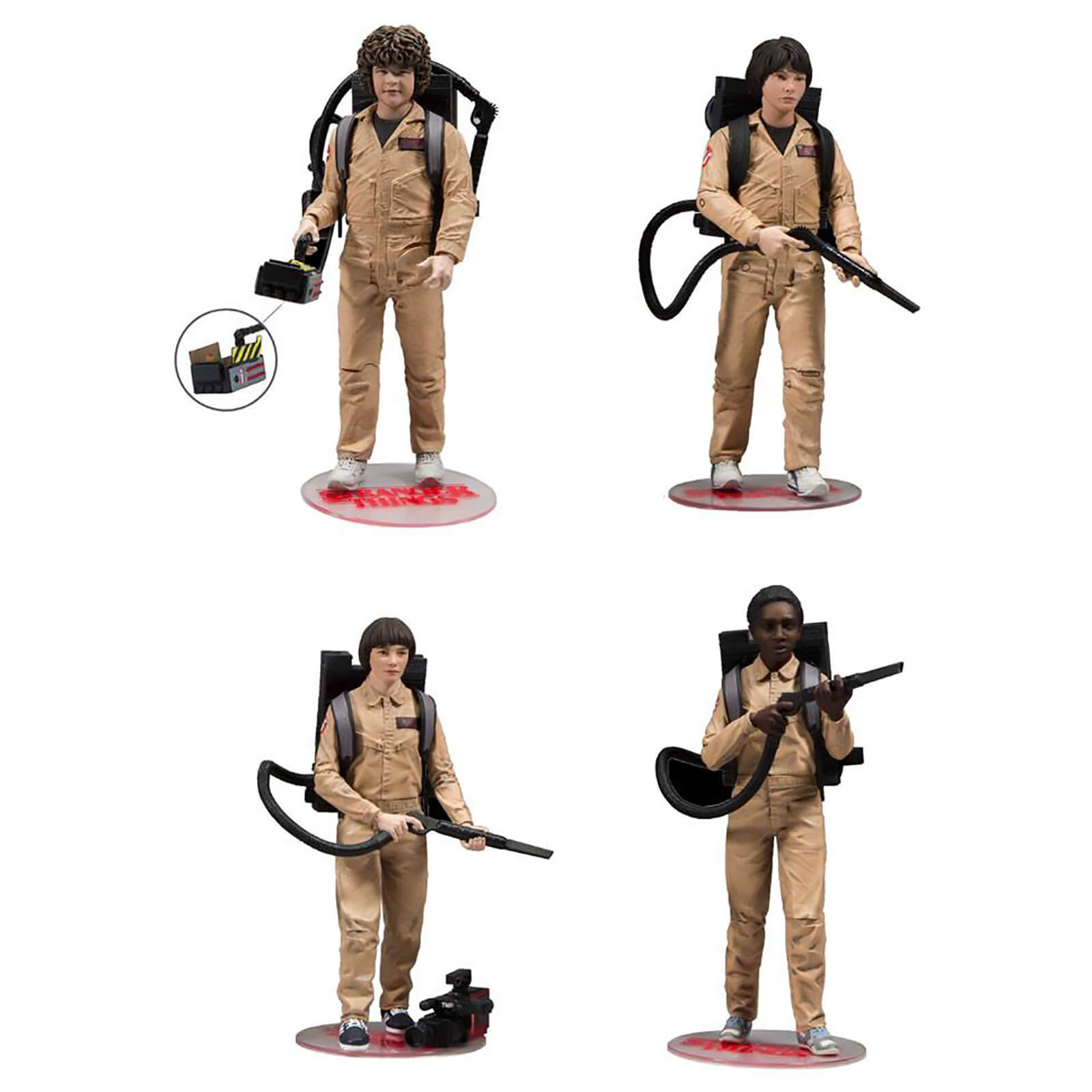 Ghostbusters Bettwäsche Mcfarlane Stranger Things Ghostbuster Deluxe 4 Pack