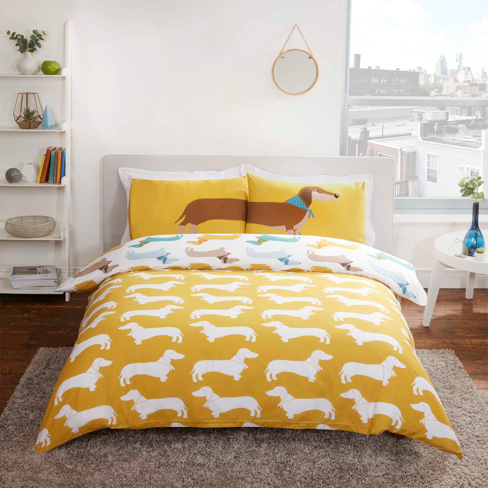 Was Ist Polycotton Bettwäsche Sausage Dog Duvet Cover Set Multi