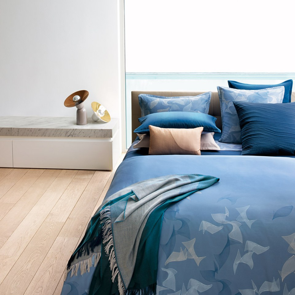Hugo Boss Waterwalk Duvet Cover Blue Sowia