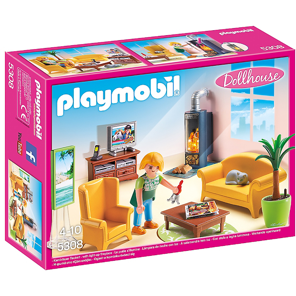 Dollhouse Playmobil Playmobil Dollhouse Sitting Room With Fireplace 5308