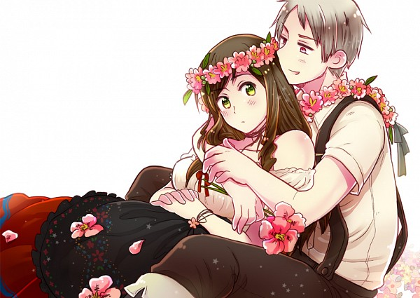 Cute Girl And Boy Hug Wallpaper Axis Powers Hetalia Himaruya Hidekaz Image 1197535