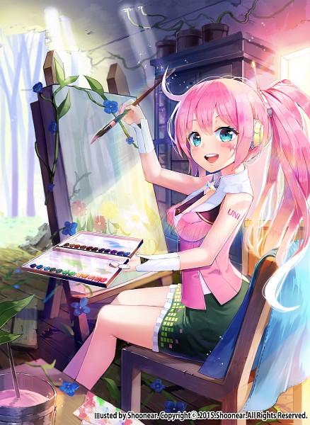 Girl In Action Wallpaper Uni Vocaloid Mobile Wallpaper 1938340 Zerochan Anime
