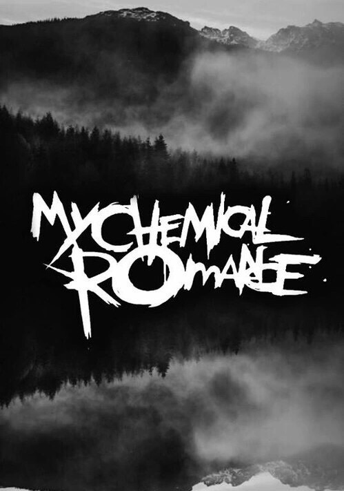 Wallpaper Emo Girl Style Black And White Frank Iero Gerard Way Logo Mcr Image