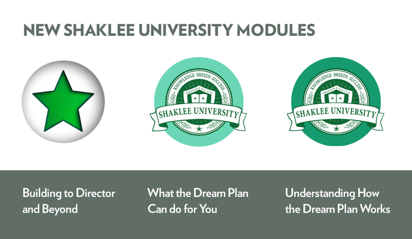 New Shaklee University Training Modules